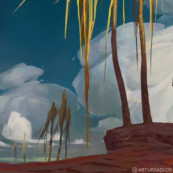 One more. I promise its the last crop.  #Mooeti #Conceptverse #conceptart #illustration #fantasyart #landscape #digitalart #digitalpainting #artistonistagram #artoninstagram #clouds #sky #palms #travel #journey #adventure #crop #artursadlos #oriental #desert #horizon