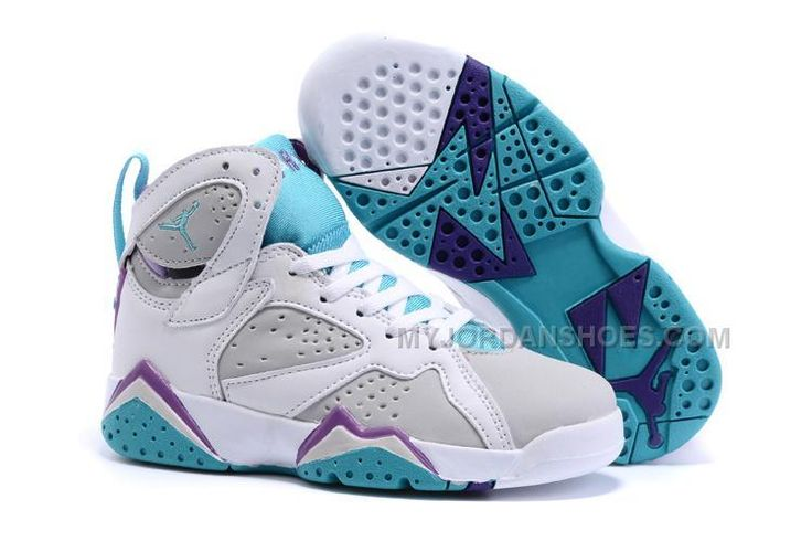 http://www.myjordanshoes.com/2016-nike-air-jordan-7-retro-gray-white-purple-basketball-sneakers-kids-shoes-online-sales.html 2016 NIKE AIR JORDAN 7 RETRO GRAY WHITE PURPLE BASKETBALL SNEAKERS KIDS SHOES ONLINE SALES Only $79.00 , Free Shipping!