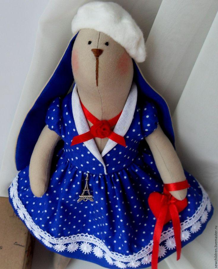 Купить Заячата моей мамы. Хочу в Париж - куклы Тильда, зайка тильда