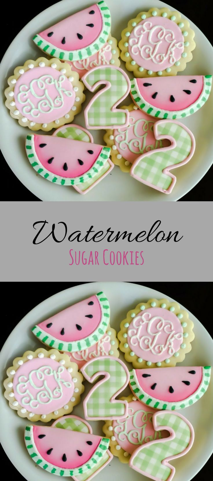 Watermelon Birthday Cookies Perfect for a summer birthday #affiliate