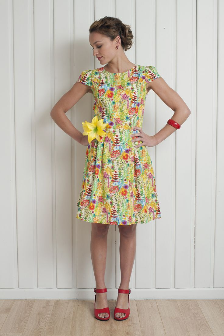 Garden Party Dress, gorgeous for Christmas festivities! See it now http://www.chalkydigits.co.nz/shop/summer15womens/garden+party+dress+-+NEW%21.html