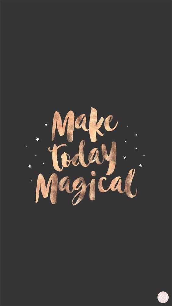 Faça hoje mágico