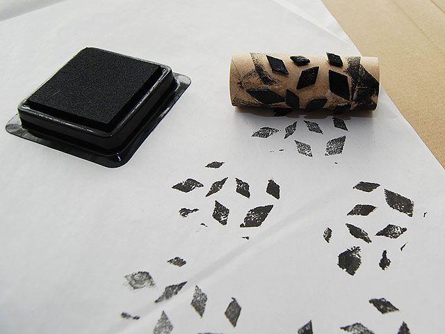 DIY- Lahjapaperi leimaten - Humua -kaikkien juhlien ideapankki