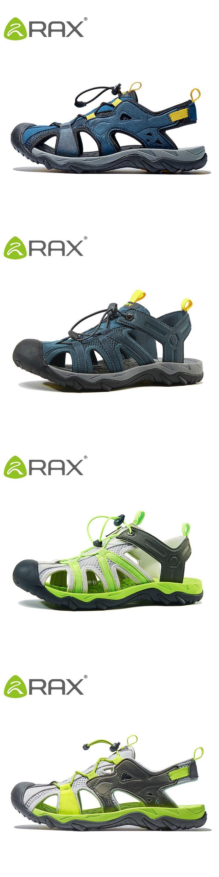 RAX Mens Sports Sandals Summer Outdoor Beach Sandals Men Aqua Trekking Water shoes For Men Upstream Shoes
