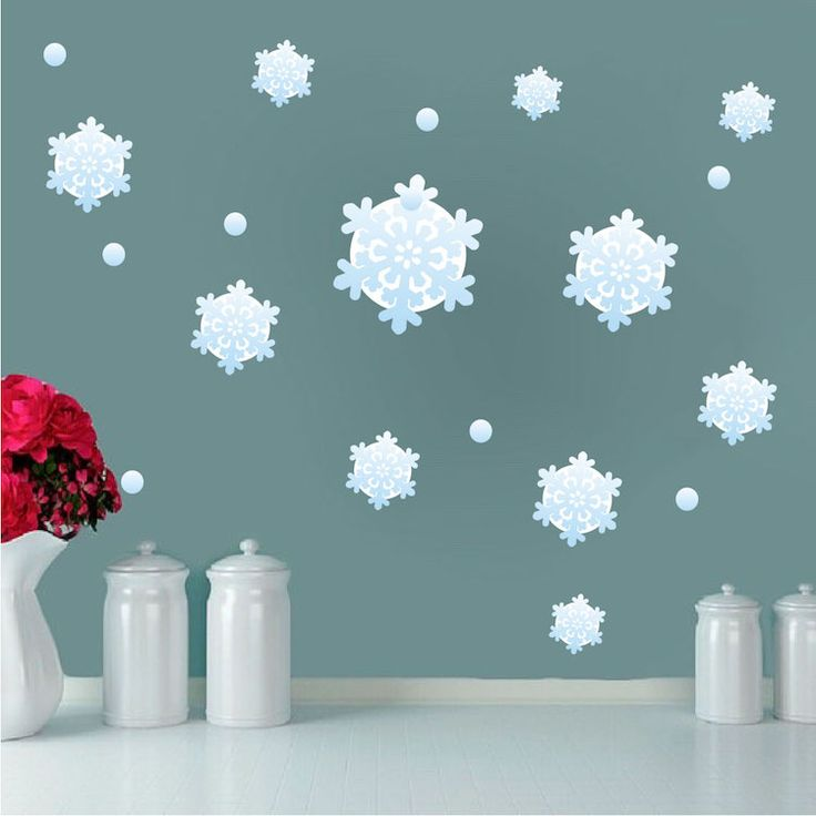 Snowflake Wall Decals   Christmas Murals   Primedecals