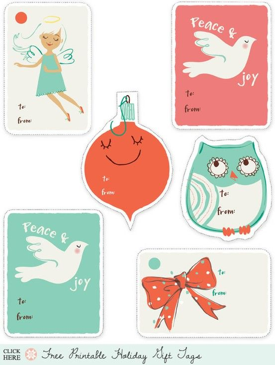 Printable Christmas tags :)