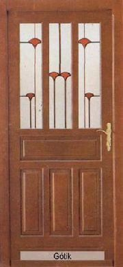 Bejárati ajtó (fenyő)