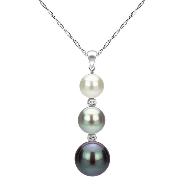 Pearl Pendant Necklace Gift for Her For Women Anniversary Love 14k White Gold  #PearlPendantNecklace #Pendant