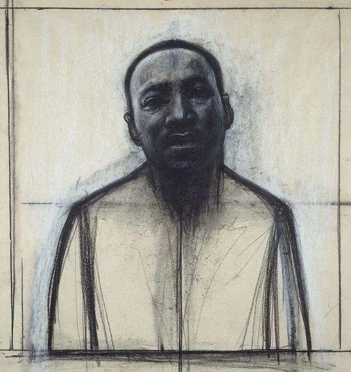"John Wilson, ""Dr Martin Luther King Jr"", 1985. #arte #artSelecta"