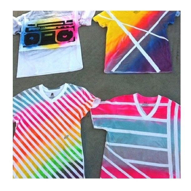 17 best ideas about spray paint shirts on pinterest for Spray paint designs with tape