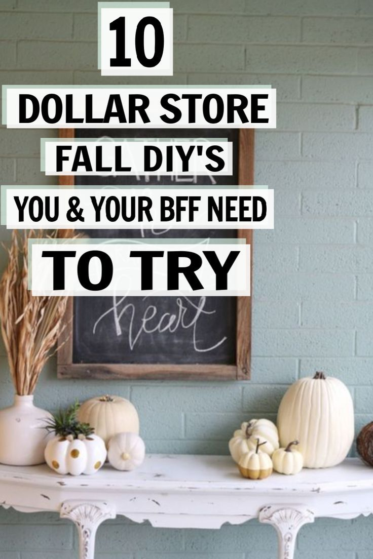 10 Diy Fall Decor Ideas You Can Do With Items From The Dollar Store Fall Decor Diy Dollar Stores Dollar Store Decor