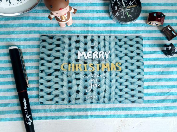 크리스마스 캘리그라피와 캐릭터 리보 엽서 세트2014 (c) 연분도련