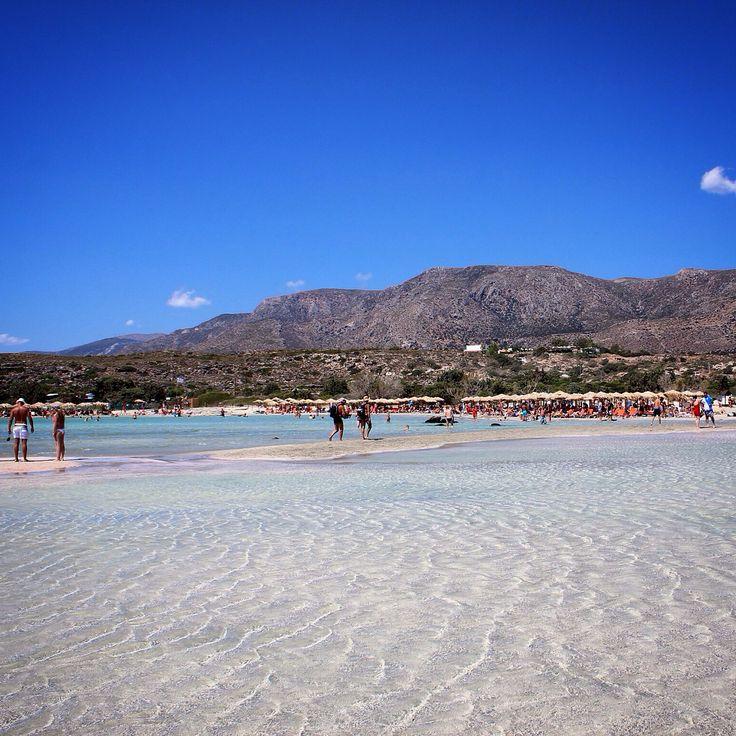 Elafonissi, the pink beach in Crete. #Elefonissi #pink #beach #crete #grees