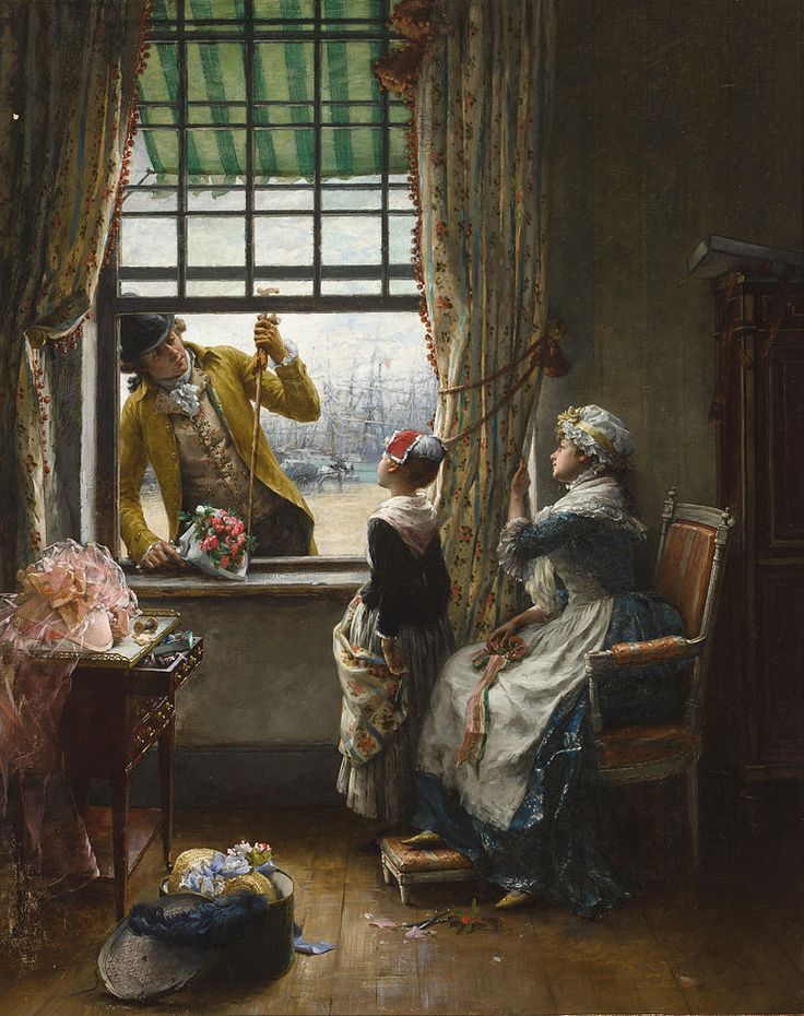 The Flirtation, Pierre Outin (French, 1840-1899)