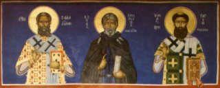 Saints Sava of Serbia, Symeon the New Theologian, Gregory Palamas