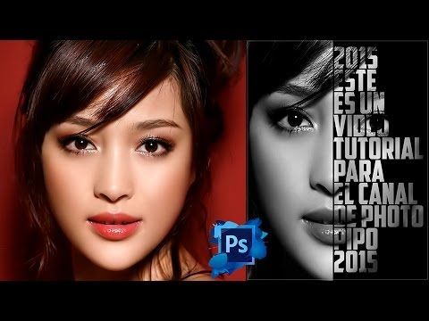 Tutotiales Photoshop CS6: Como Hacer Un Efecto De Cartel Texto - Retrato En Photoshop CS6 (PhotoPipo - YouTube