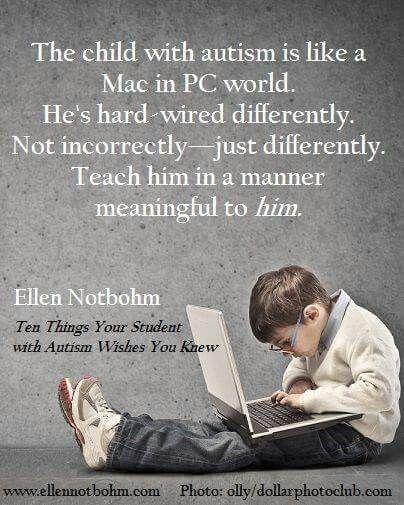 Windows pc vs Mac - een mooie uitleg om te verduidelijken hoe het is voor mensen mer autisme in de maatschappij.