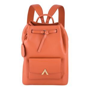 Get out of your comfort zone with this orange backpack.