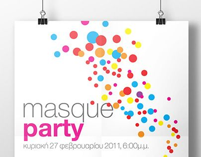 """Check out new work on my @Behance portfolio: """"Masque Party - Poster"""" http://be.net/gallery/34221989/Masque-Party-Poster"""