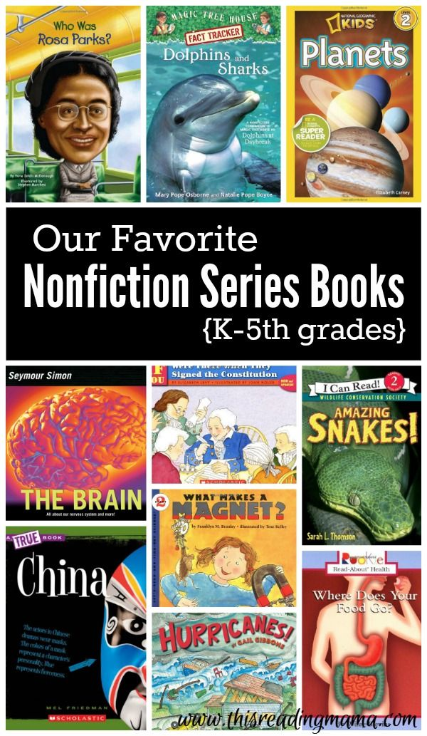 Our Favorite Nonfiction Series Books for K-5th grades | This Reading Mama