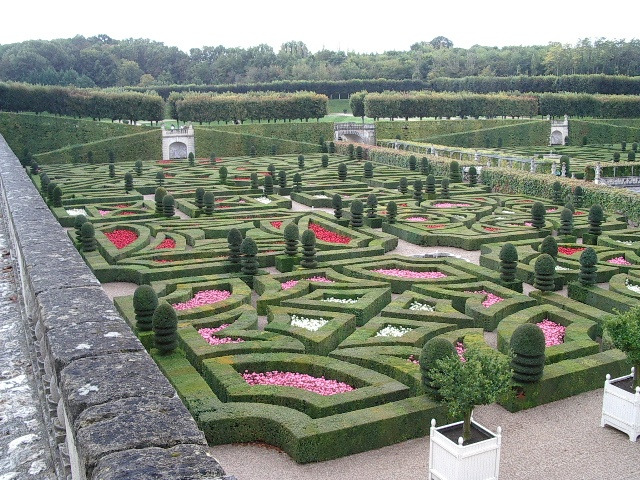 Villandry's formal gardens in the Loire Valley