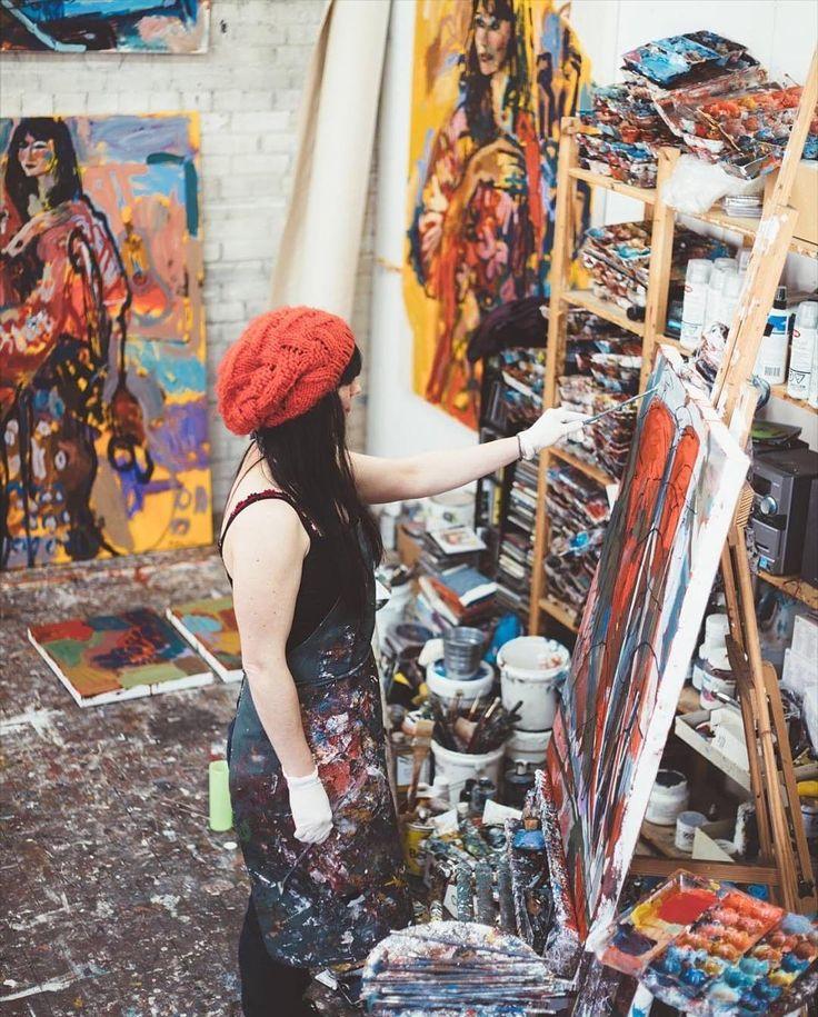Amy Dryer in her studio at work Photo: chelseakindrachuk
