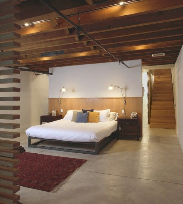Cool idea for turning a basement into a bedroom bedroom for Cool basement bedrooms