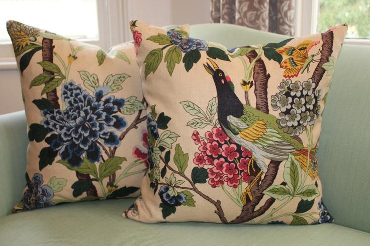 gp  u0026 j baker hydrangea bird cushion cover 20 inch