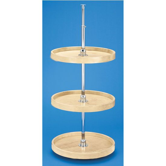 Rev A Shelf 39 39 Wood Classicinch Full Circle Independently Rotating 3 Shelf Lazy Susans For