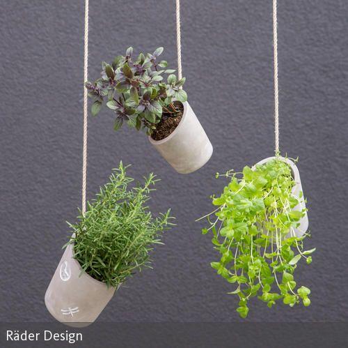 """Der Hängeblumentopf """"klein"""" von Räder ist eine ausgefallene Art, um seine Pflanzen zu präsentieren. Sowohl auf dem Balkon als auch auf der Terrasse lassen…"""