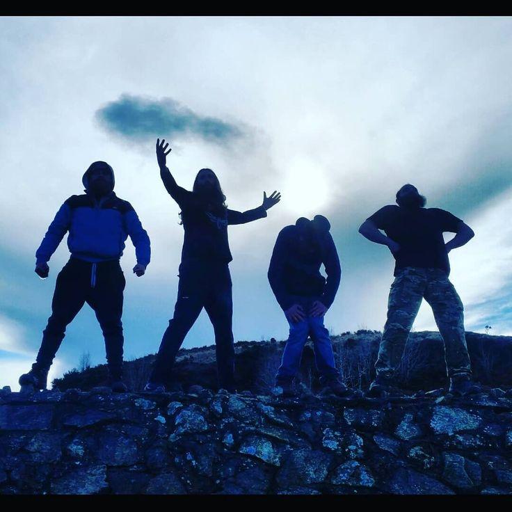 The lads posing for their next album cover  #roadtrip #northernireland #belfast #countryside #view #extras #ontheroadagain #gameofthrones  #beardymen #hairymen #boyband  #darkandmysterious