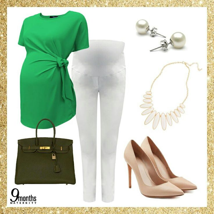 Tis the season to be jolly! 🎄Dress your baby bump for this upcoming season. Let's start off with a casual, merry chic look in our Green Side Tie Maternity Blouse and Off White Maternity Full Panel Skinny Pants. www.9monthsmaternity.com  Add to basket: Green Side Tie Maternity Blouse → $41.06   Off White Maternity Full Panel Skinny Pants → $52.01