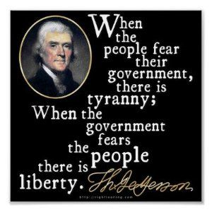 Jefferson Tyranny Liberty Quote Print: Home & Kitchen