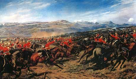 The Charge of the Heavy Brigade : The Inniskilling Dragoons strike the Russian Cavalry at the Battle of Balaclava, Crimean War