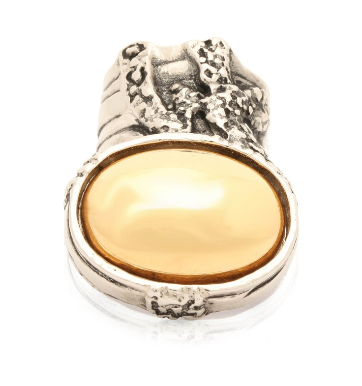 Arty Ring with Stone by @Yves Saint Laurent