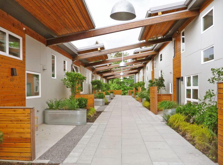 Puyallup Longhouse Courtyard