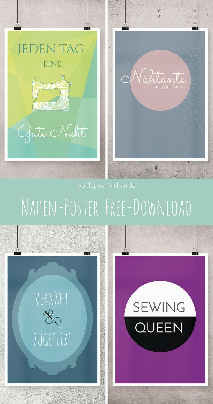 """Sprüche Poster zum Thema """"Nähen"""" [Free Printable"""
