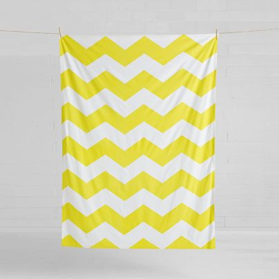 Chevron Grande Tablecloth Bright Yellow 150x275cm