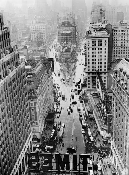 U.S. Times Square, looking North, NYC, early 1940's.