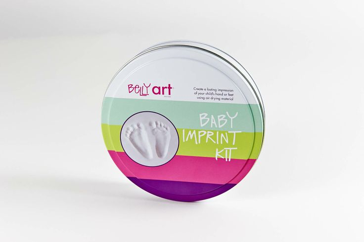 Create perfect baby feet impressions with this special air drying material.