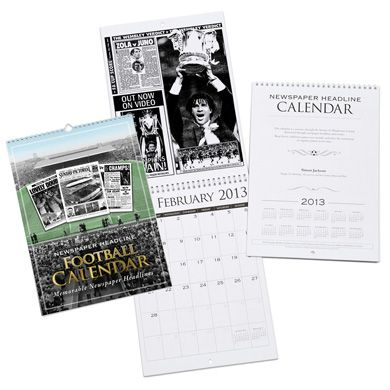 Personalised Football Calendar (Start on month of your choice) | £16.99