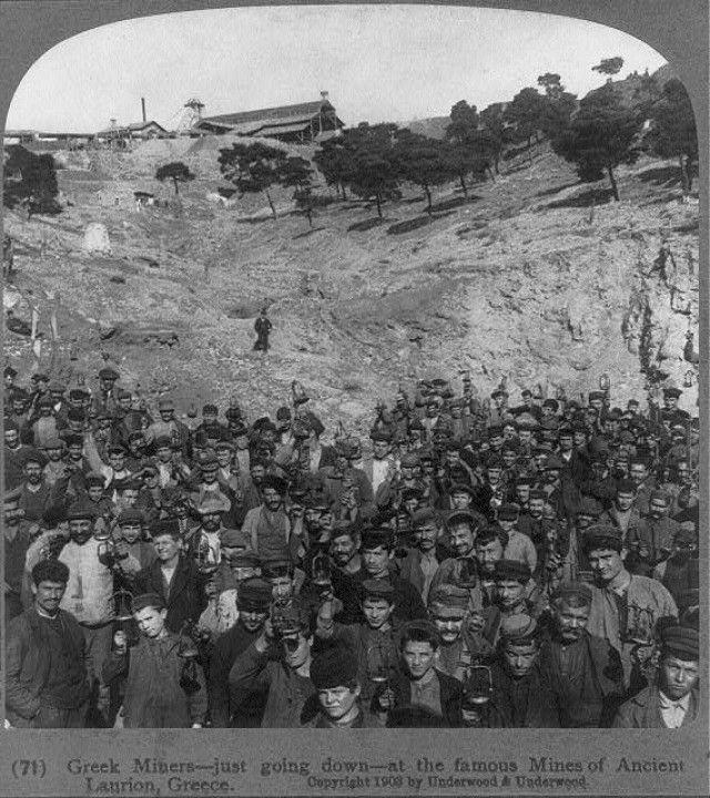 Μεταλλωρύχοι στο Λαύριο - 1903.