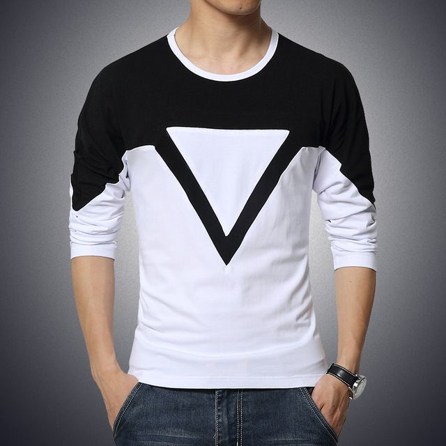 27 best men 39 s full sleeve tshirts images on pinterest Mens long sleeve white t shirt
