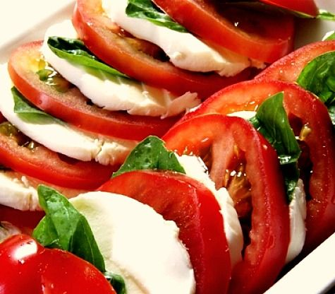Insalata Caprese--my most favorite summertime food