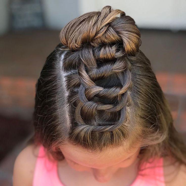 Knot braid into a messy bun- half up style for Nora P! #norapaldi #knotbraid #ha..., #braid #braids