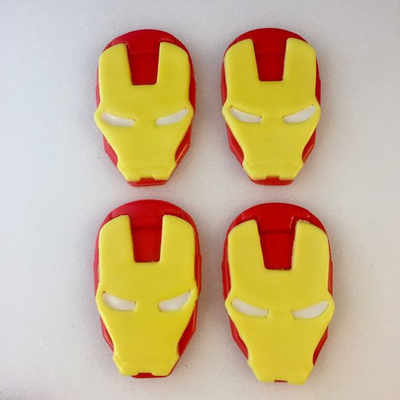 Iron Man Inspired Toppers Iron Man Cake by KedulceSugarDesigns