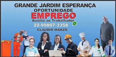 GRANDE JARDIM ESPERANÇA OPORTUNIDADE DE EMPREGO: VAGA PARA TÉCNICO ELETROMECÂNICA COM EXPERIÊNCIA E...