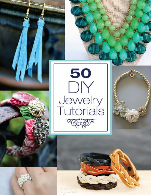 You know we love making jewerly around here! So I thought it would be fun to put together a big roundup of inspiration – lots of Necklace, B...