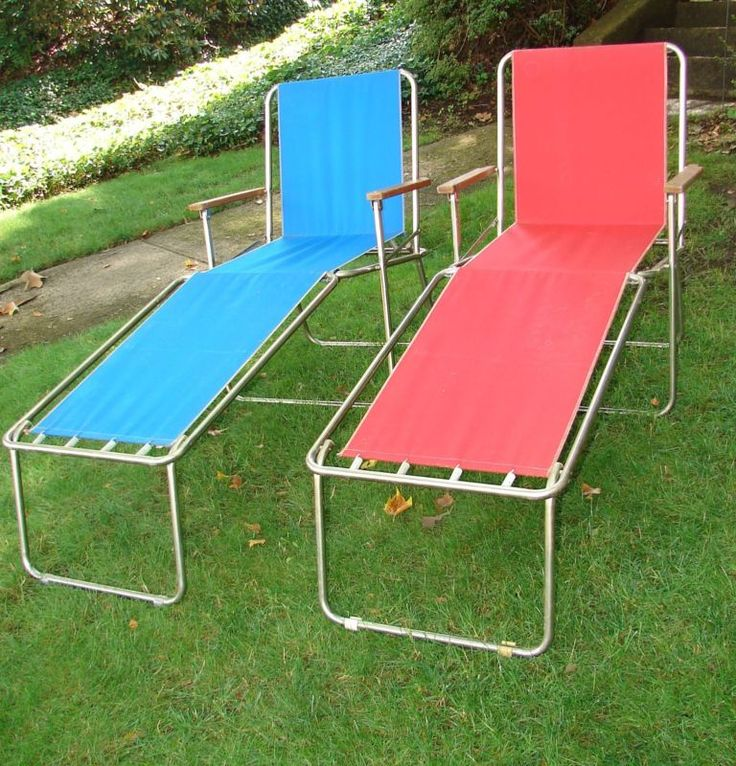 Vintage Zip Dee Folding Chairs Camping Furniture Lawn