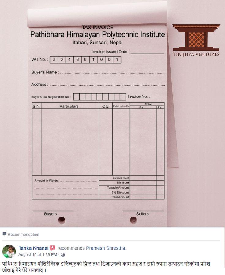 Pramesh Shrestha (PrmTheRkr) on Pinterest - tax invoice
